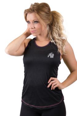dames-tank-top-zwart-roze-gorilla-wear-marianna-voor-1