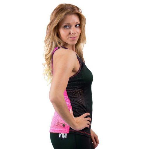 dames-tank-top-zwart-roze-gorilla-wear-marianna-zijkant-1