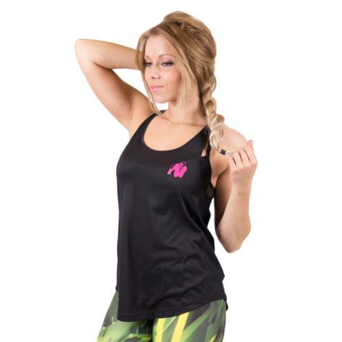 dames-tank-top-zwart-roze-gorilla-wear-santa-monica-voor-1