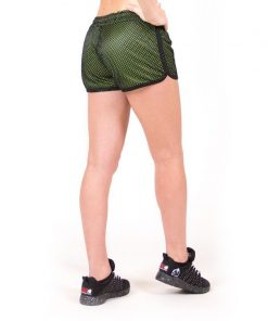 fitness-short-zwart-groen-gorilla-wear-madison-reversible-achter-1