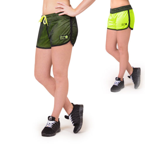 fitness-short-zwart-groen-gorilla-wear-madison-reversible-beide