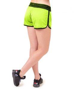 fitness-short-zwart-groen-gorilla-wear-madison-reversible-r-achter-3