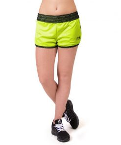 fitness-short-zwart-groen-gorilla-wear-madison-reversible-r-voor-4