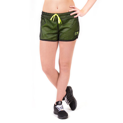 fitness-short-zwart-groen-gorilla-wear-madison-reversible-voor-3