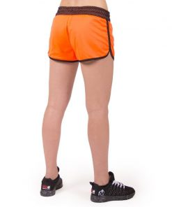 fitness-short-zwart-oranje-gorilla-wear-madison-reversible-r-achter-1