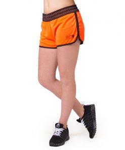 fitness-short-zwart-oranje-gorilla-wear-madison-reversible-r-voorkant-1