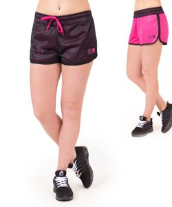 fitness-short-zwart-roze-gorilla-wear-madison-reversible-beide