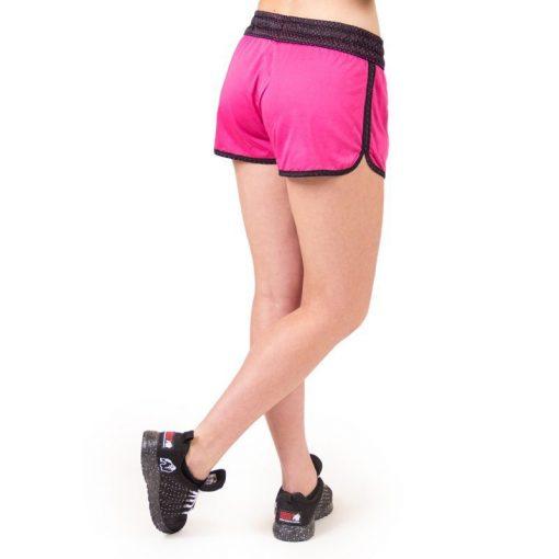 fitness-short-zwart-roze-gorilla-wear-madison-reversible-r-achter-1