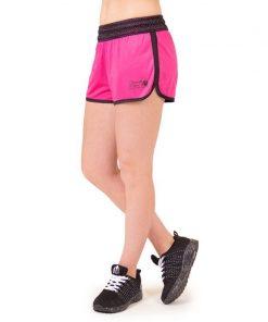 fitness-short-zwart-roze-gorilla-wear-madison-reversible-r-zijkant-1
