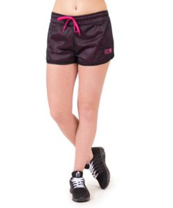 fitness-short-zwart-roze-gorilla-wear-madison-reversible-voorkant-1