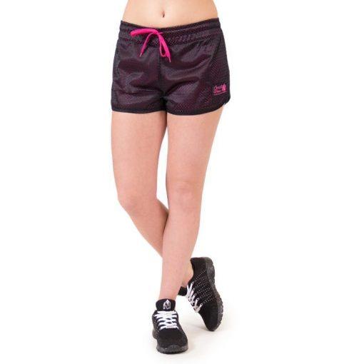 fitness-short-zwart-roze-gorilla-wear-madison-reversible-voorkant-1