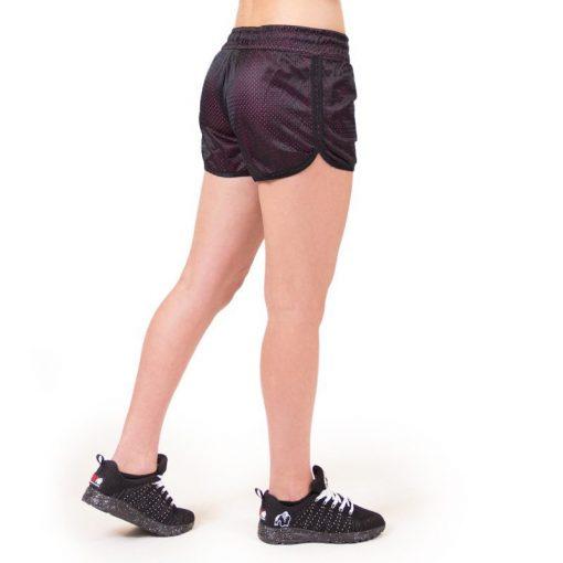 fitness-short-zwart-roze-gorilla-wear-madison-reversible-zijkant-2
