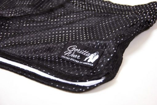 fitness-short-zwart-wit-gorilla-wear-madison-reversible-detail-1