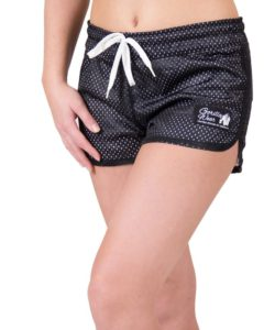 fitness-short-zwart-wit-gorilla-wear-madison-reversible-voor-1