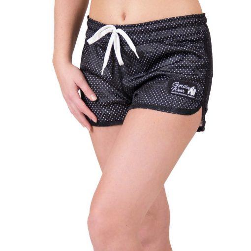 fitness-short-zwart-wit-gorilla-wear-madison-reversible-voor-1