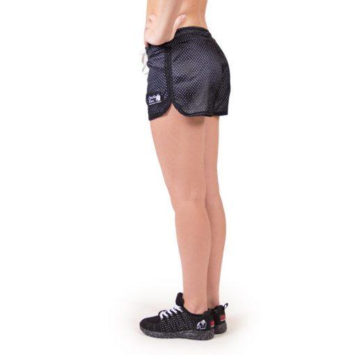 fitness-short-zwart-wit-gorilla-wear-madison-reversible-zijkant-1