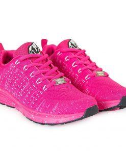 Fitness sportschoen Gorilla Wear Brooklyn Knitted Sneakers roze wit voorkant