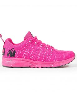 Fitness sportschoen Gorilla Wear Brooklyn Knitted Sneakers roze wit zijkant