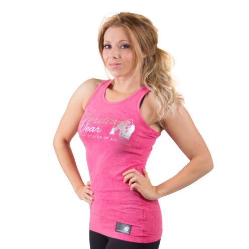 fitness-t-shirt-roze-gorilla-wear-leakey-voorkant-2