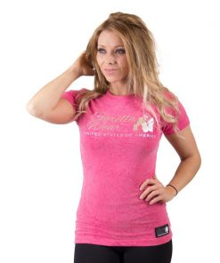 fitness t-shirt vrouwen roze - Gorilla Wear Camden-1