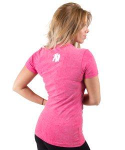 fitness t-shirt vrouwen roze - Gorilla Wear Camden-2