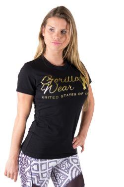 fitness-t-shirt-zwart-goud-gorilla-wear-luka-voor-2