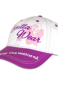lady-logo-cap-zwart-paars-gorilla-wear-1