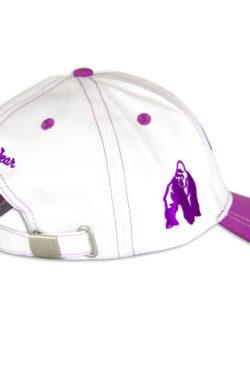 lady-logo-cap-zwart-paars-gorilla-wear-achterkant