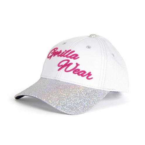 louisiana-glitter-cap-wit-roze-gorilla-wear-voorkant-1