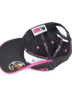 louisiana-glitter-cap-zwart-roze-gorilla-wear-binnenkant-1