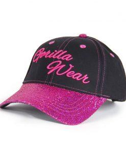 louisiana-glitter-cap-zwart-roze-gorilla-wear-voorkant-1