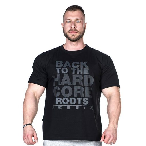 odybuilding T-Shirt Zwart - Nebbia Hard Core T-Shirt 391-1