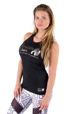 tank top zwart zilver gorilla wear florence voorkant 3
