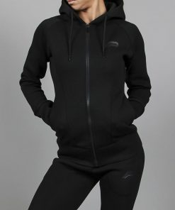 Fitness Jacket Zwart Rits- Pursue Fitness-1
