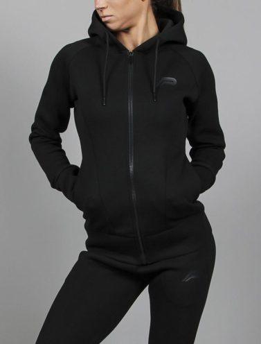Fitness Jacket Zwart Rits- Pursue Fitness-1