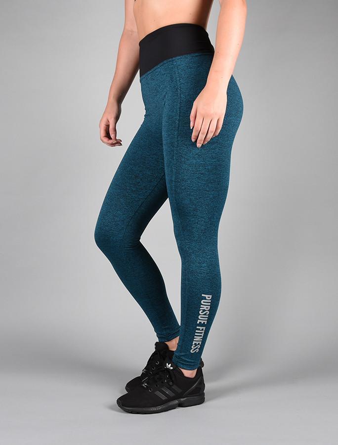 Blauwe Sportlegging.Fitness Legging Blauw Pursue Fitness Essential Flux Legging