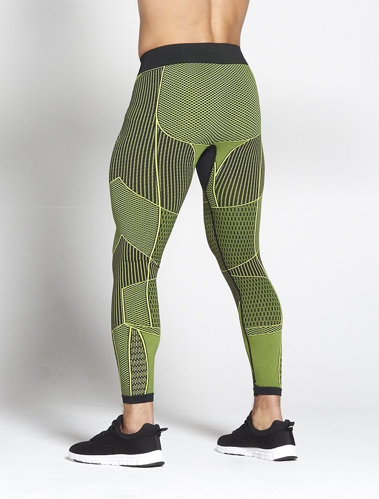 Fitness Legging Mannen Groen - Pursue Fitness Xeno 2