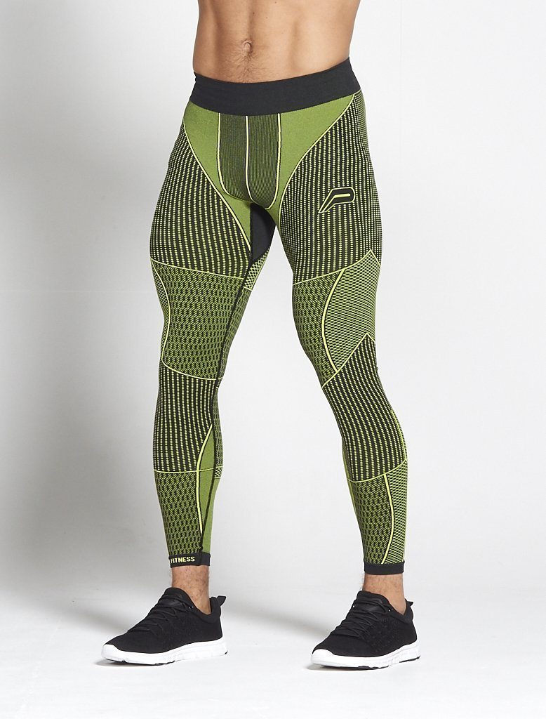 Fitness Legging Mannen Groen - Pursue Fitness Xeno