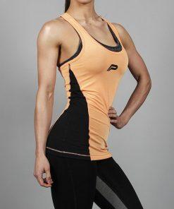 Fitness Singlet Slub Oranje - Pursue Fitness-1