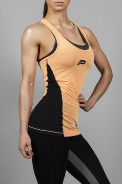Fitness Singlet Slub Oranje - Pursue Fitness-1