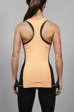 Fitness Singlet Slub Oranje - Pursue Fitness-2