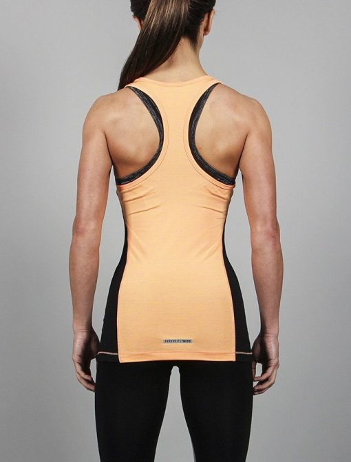 Fitness Singlet Slub Oranje - Pursue Fitness-2