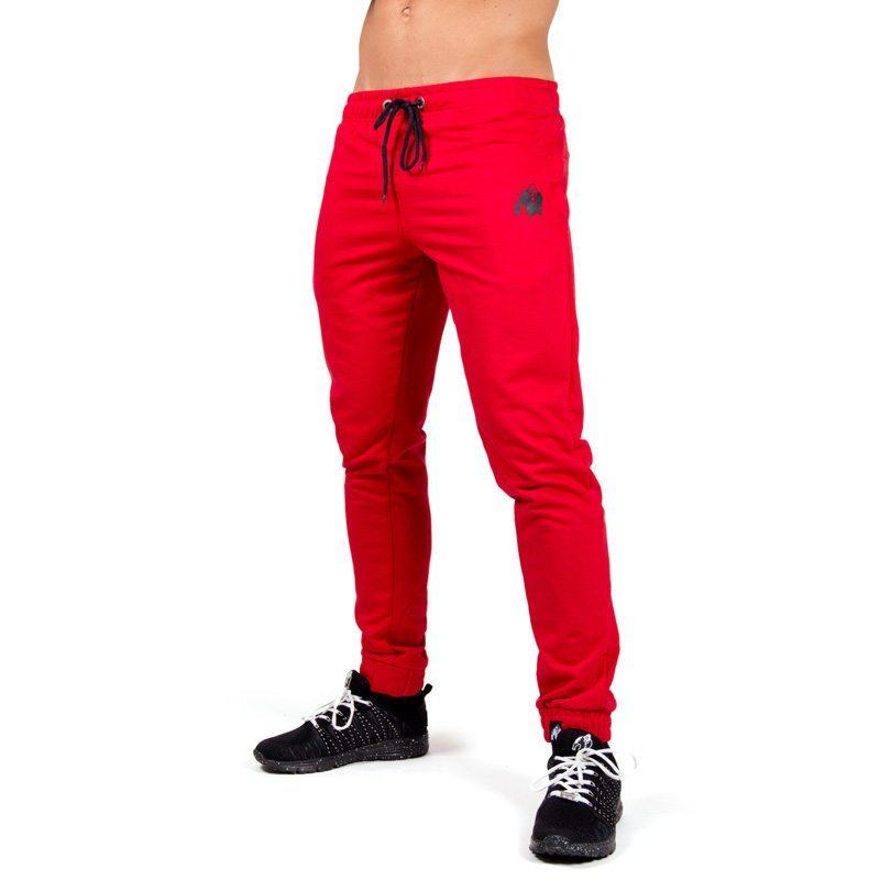 Joggingbroek Rood.Bodybuilding Joggingbroek Rood Gorilla Wear Classic Joggers