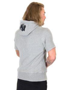 Bodybuilding Short Sleeve Hoodie Grijs - Gorilla Wear Boston-2