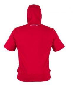 Bodybuilding Short Sleeve Hoodie Rood - Gorilla Wear Boston-2