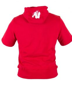 Bodybuilding Short Sleeve Hoodie Rood - Gorilla Wear Boston-3