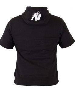 Bodybuilding Short Sleeve Hoodie Zwart - Gorilla Wear Boston-3