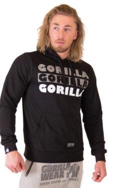 Bodybuilding Trui met Hoodie Zwart - Gorilla Wear Ohio-1