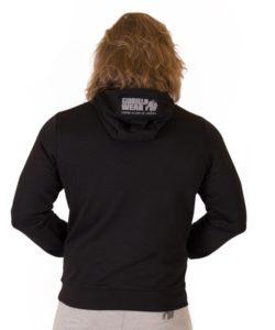 Bodybuilding Trui met Hoodie Zwart - Gorilla Wear Ohio-2