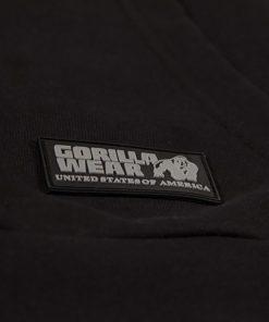 Bodybuilding Trui met Hoodie Zwart - Gorilla Wear Ohio-3